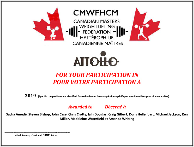 2019.Attollo Participation Performance Certificate.Web Congrats