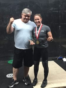 Isabelle Gauthier.Best Womens Lifter. 2021 CMWC and Coach Eugeni Romanov